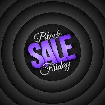 Black friday sale retro en vintage stijl, 3d-abstracte achtergrond