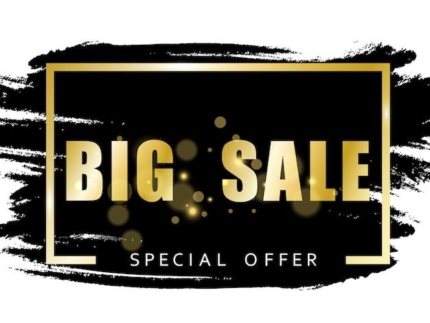 Black friday sales banner vectorillustratie zwarte tag ronde banner