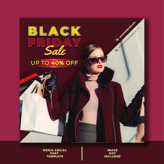 Black friday-sjabloon voor zakelijke aanbiedingen. minimalistisch ontwerp voor sociale media, advertenties, promoposters.