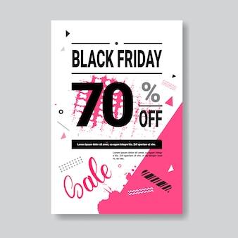 Black friday-sjabloonontwerp voor folder, handbill, boekje, folder of pamflet
