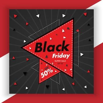 Black friday social media post beste banner nieuwe sjabloon premium vector