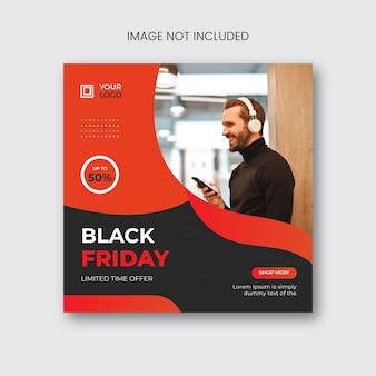 Black friday social media post en webbannerontwerp
