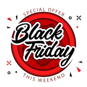 Black friday, speciale aanbieding alleen dit weekend, superuitverkoop op black friday-concept