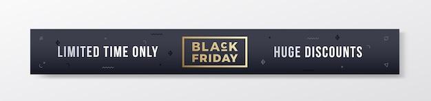 Black friday stijlvolle premium banner of header.