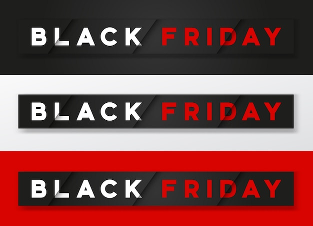 Black friday stijlvolle premium banner set