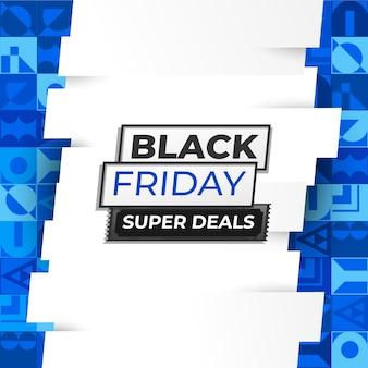 Black friday super deals op blue ornament