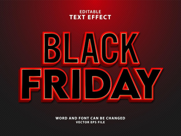 Black friday super sale 3d bewerkbaar teksteffect