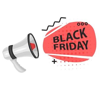 Black friday super sale op een witte achtergrond, vectorformaat