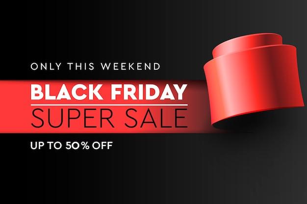 Black friday super verkoop illustratie