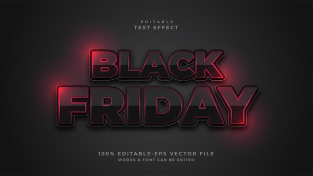 Black friday tekst bewerkbaar teksteffect