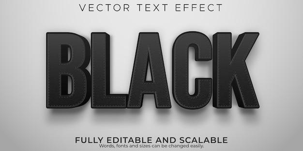 Black friday-teksteffectsjabloon, bewerkbare verkoop- en mode-tekststijl