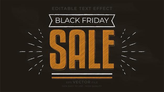 Black friday typografie schoolbord bewerkbaar teksteffect