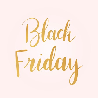 Black friday-typografiestijlvector