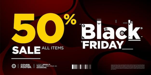 Black friday uitverkoop 50% banner