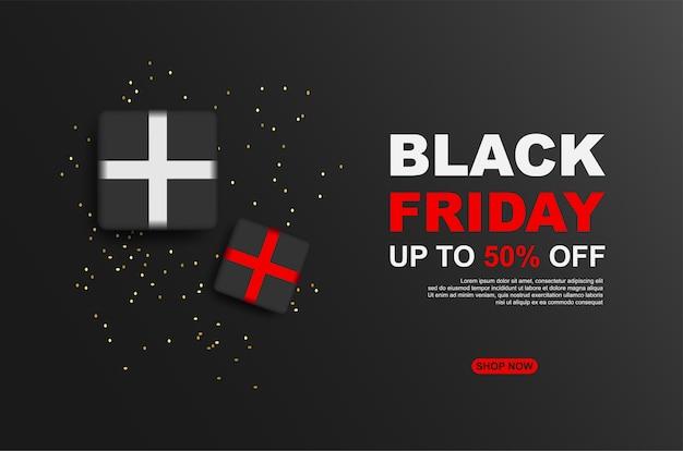 Black friday-uitverkoop tot 50% korting met geschenkdoos.