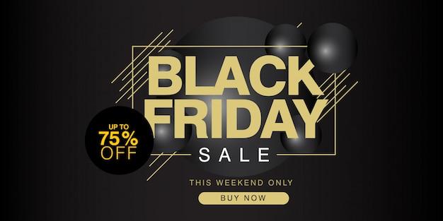 Black friday-uitverkoop tot 75% korting op banner