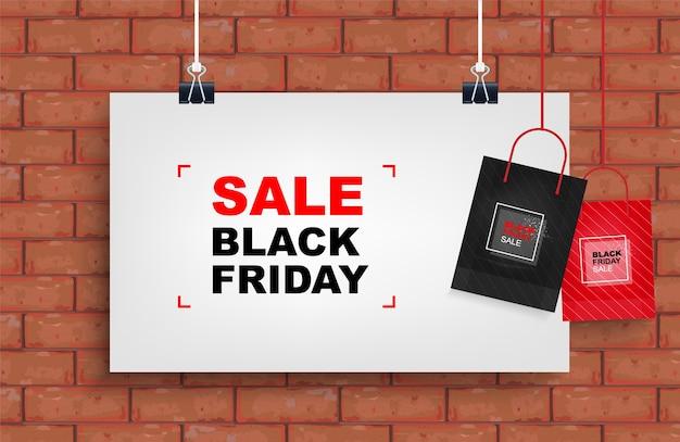 Black friday-uitverkoop. winkelen promotie sjabloon