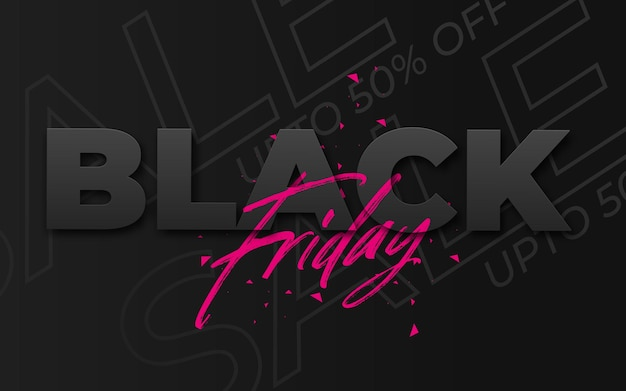 Black friday-uitverkoopbanner