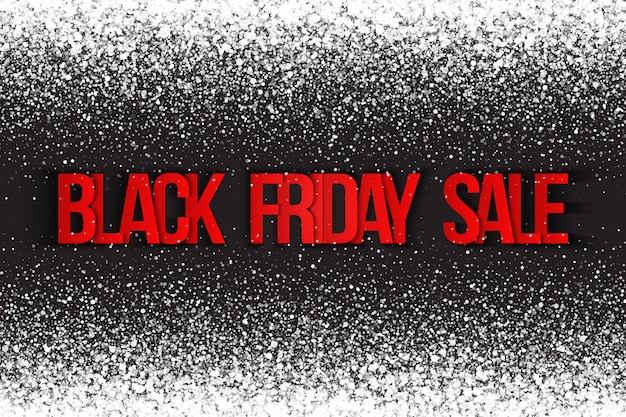 Black friday-verkoop, abstracte achtergrond met deeltjes