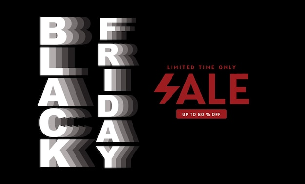 Black friday, verkoop, banner ontwerpsjabloon, zwarte kleur, alleen beperkte tijd, abstracte achtergrond, vector.