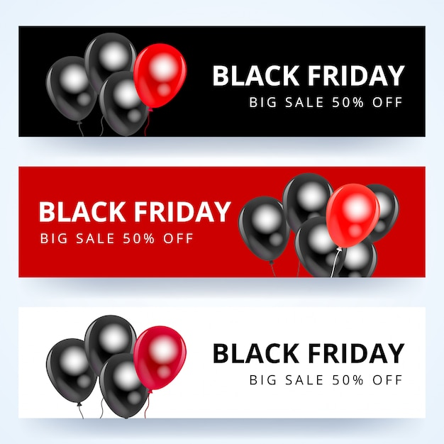 Black friday verkoop banner set