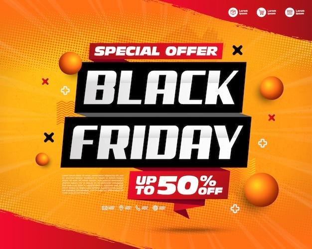 Black friday verkoop banners sjabloonontwerp