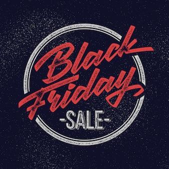 Black friday verkoop belettering badge