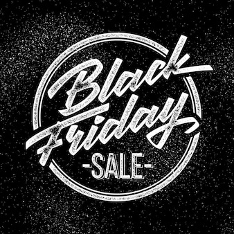 Black friday verkoop belettering