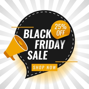 Black friday-verkoop bevordert het ontwerp van het illustratiemalplaatje