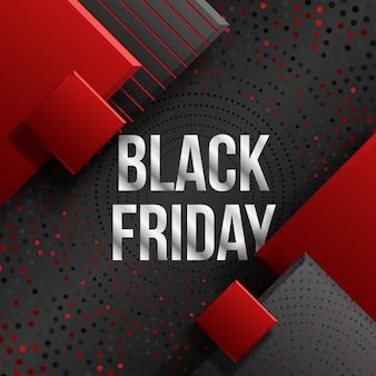 Black friday-verkoop commerciële banner van de kortingsgebeurtenis