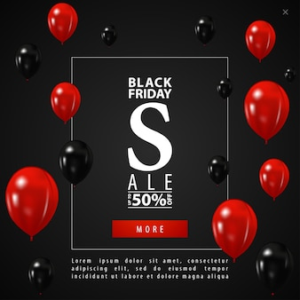 Black friday-verkoop. de pop-up