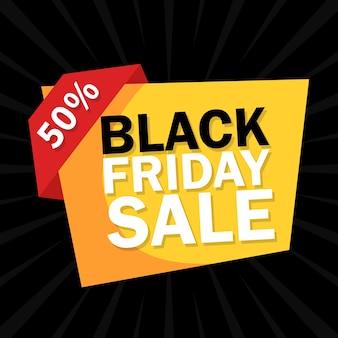 Black friday verkoop geometrische vormen flyer design