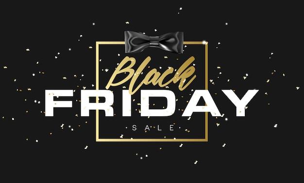 Black friday-verkoop gouden banner.