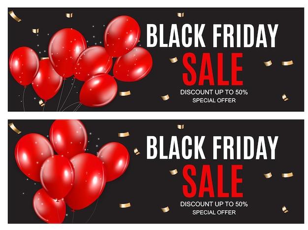 Black friday verkoop inscriptie banner ontwerpsjabloon. vector illustratie eps10