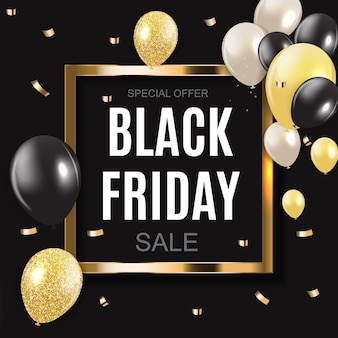 Black friday verkoop inscriptie banner ontwerpsjabloon. vectorillustratie eps10