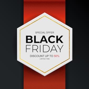 Black friday verkoop inscriptie sjabloon voor spandoek.
