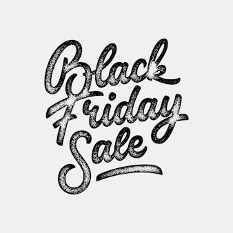 Black friday verkoop kalligrafie belettering badge sjabloon