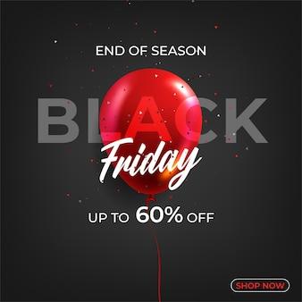 Black friday verkoop korting promo aanbieding poster