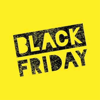 Black friday verkoop krabbel grunge stempel banner