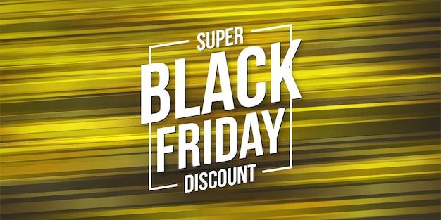 Black friday-verkoop met gele abstracte snelheidsachtergrond