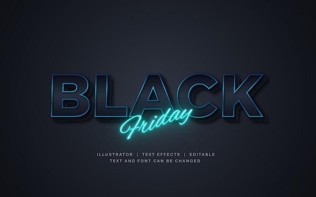 Black friday-verkoop met licht teksteffect