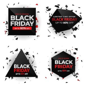 Black friday verkoop ontwerpelementen