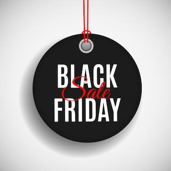 Black friday verkoop prijskaartje sjabloon.
