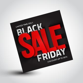 Black friday verkoop promotie label