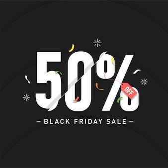 Black friday-verkoop reclamebanner