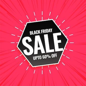 Black friday-verkoop roze ontwerp als achtergrond