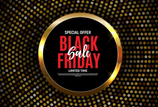 Black friday verkoop sjabloon voor spandoek. illustratie