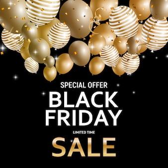 Black friday verkoop sjabloon voor spandoek.