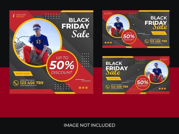 Black friday-verkoop webbannerbundelontwerp black friday grafische bron en elementen black friday