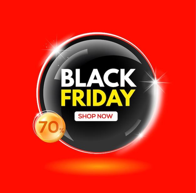 Black friday-verkoop zeepbellenkorting 70 procent